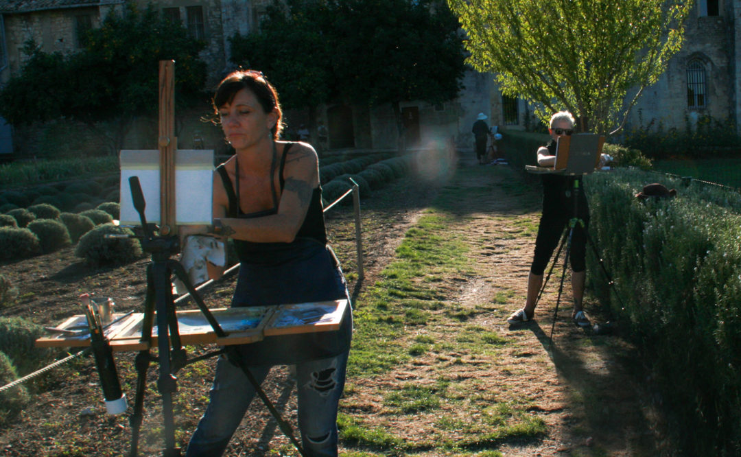 Trish Painting St. Remy