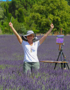 painting holiday in lavender