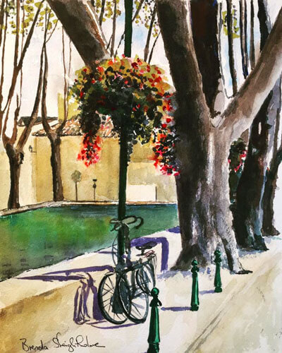 Brenda Sleightholme's painting of a winery owner