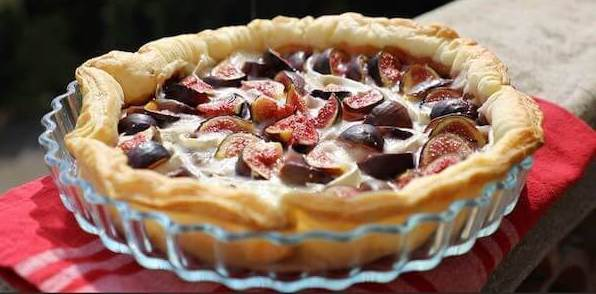 Goat Cheese Tarte with Figs and Caramelized Onions