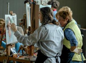 Rose Frantzen instructing students