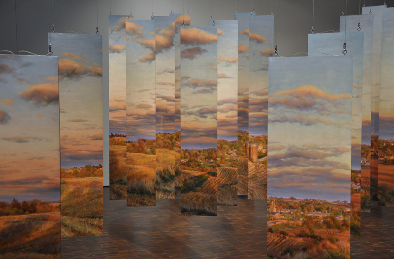 Rose Frantzen's Portrait of Maquoketa landscape pieces