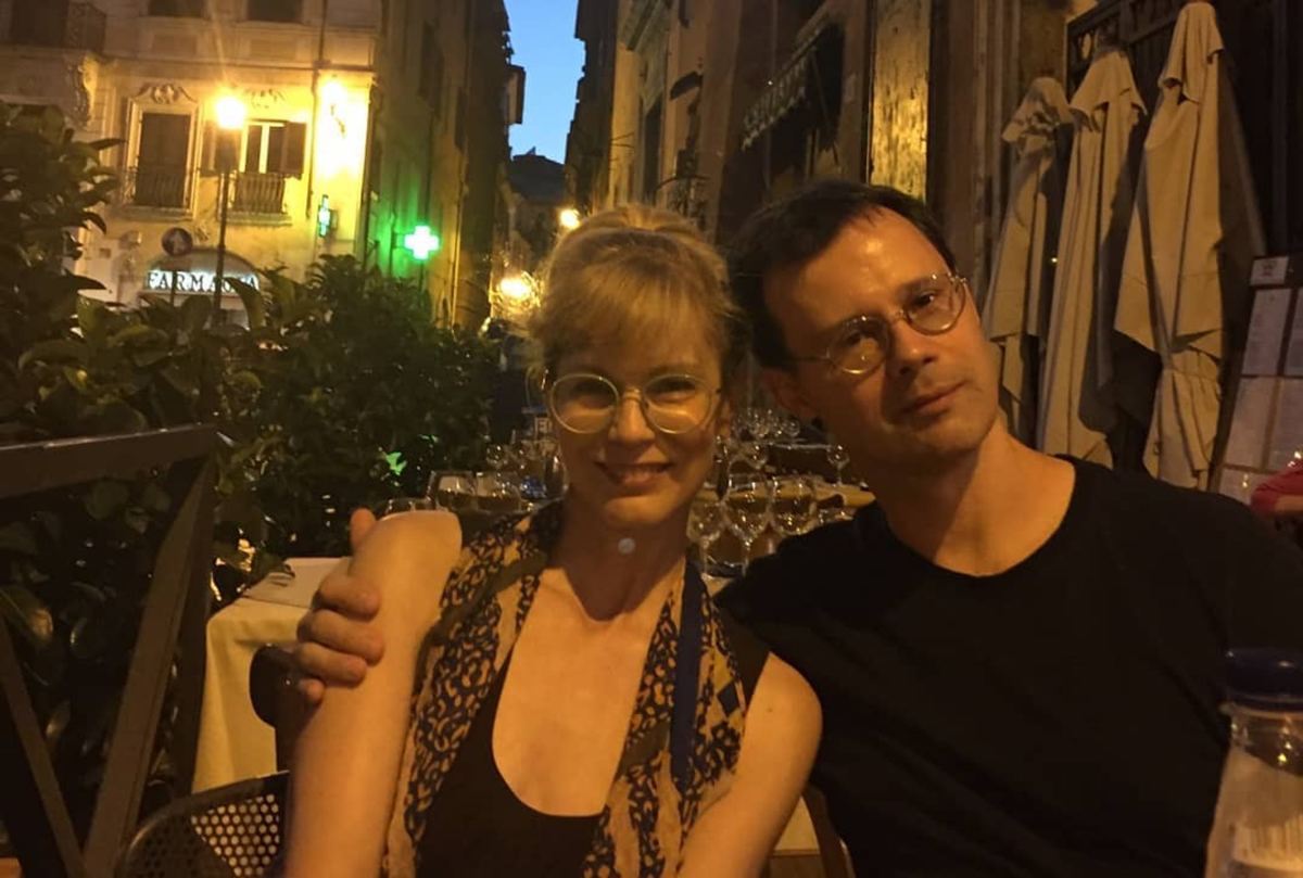 Susan Lyon and Scott Burdick in the South of France