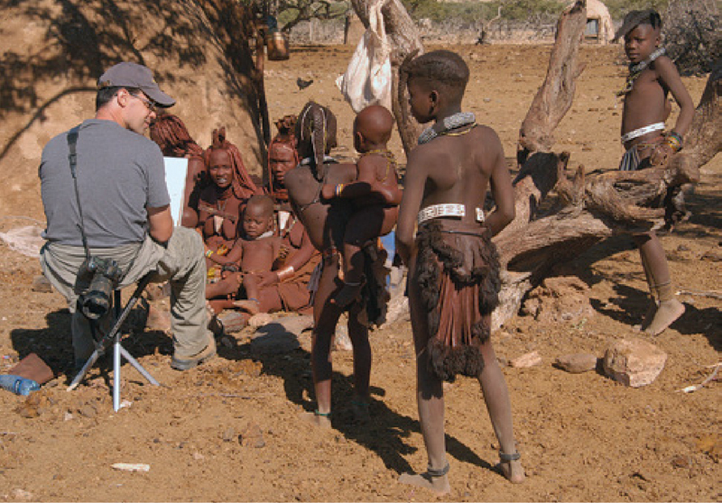 Scott Burdick Pleinair Painting in Africa
