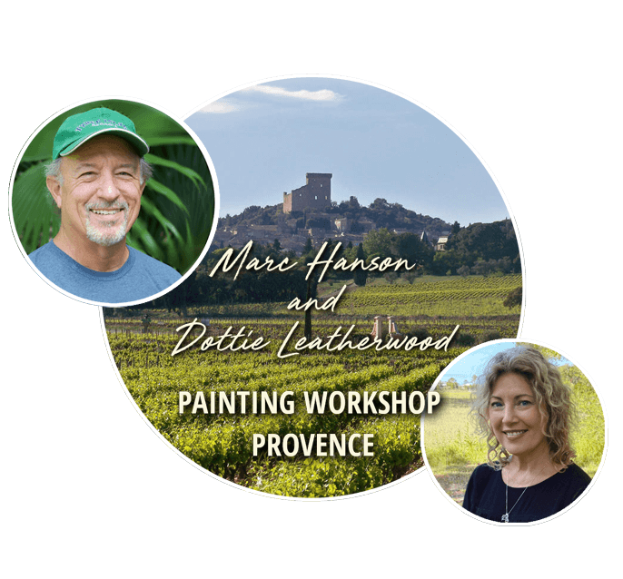 Marc Hanson and Dottie Leatherwood_Workshop in Provence