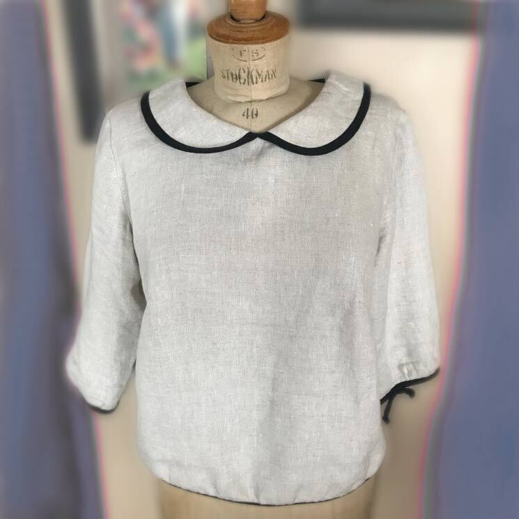 Handmade French Linnen Blouse by Vanessa Rother