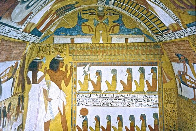 ochre egyptian head